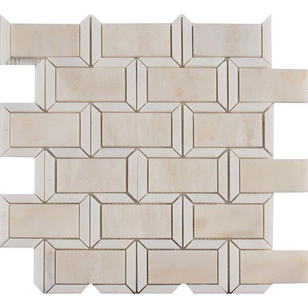 Angora Framework Random Sized Marble Mosaic Tile in Beige by MSI
