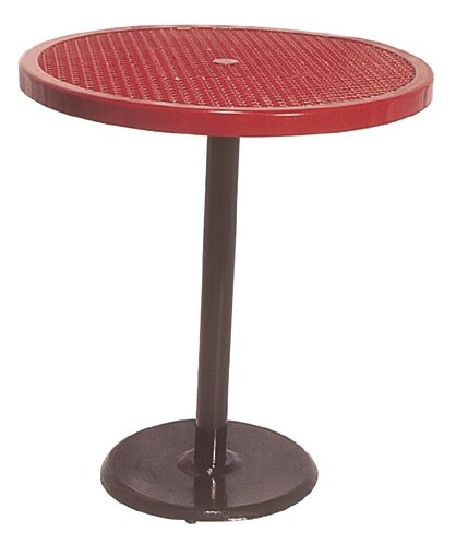 Portable Round Food Court Picnic Table with Diamond Pattern by Ultra Play