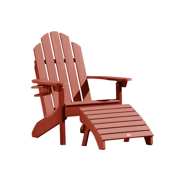Highpoint Plastic Adirondack Chair with Ottoman (Set of 3) by Alcott Hill