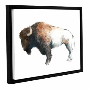 Colorful Bison' Framed Painting Print by Union Rustic