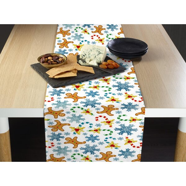 Epperson Gingerbread Men and Snowflakes Table Runner by The Holiday Aisle