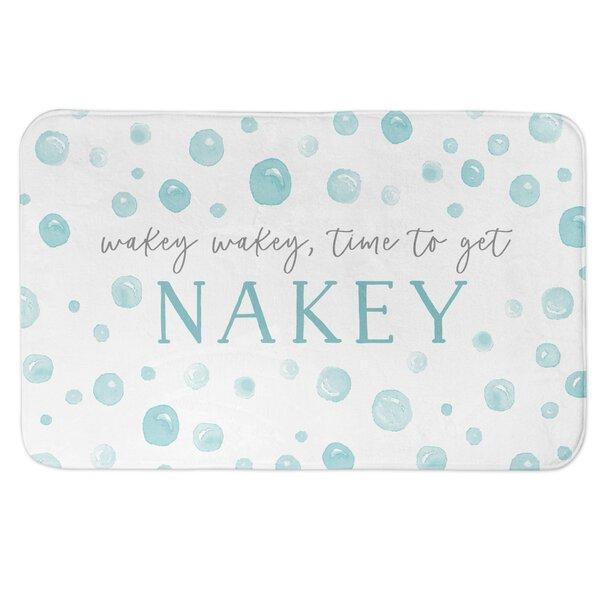 Agee Nakey Bubbles Rectangle Non-Slip Polka Dots Bath Rug