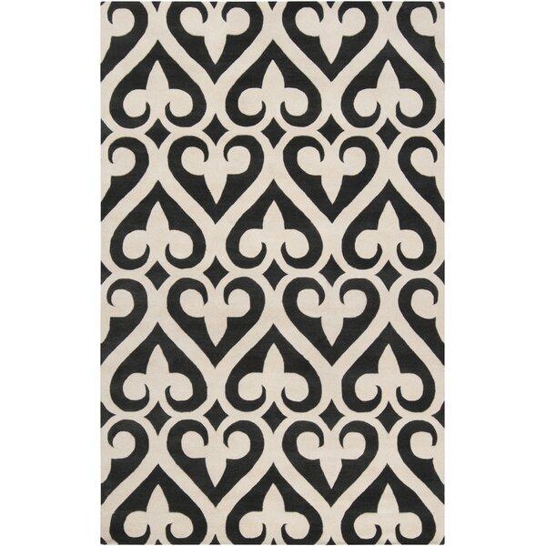 Zuna Geometric Ivory/Black Area Rug by Jill Rosenwald