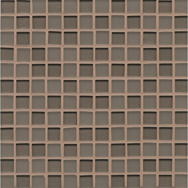 Remy Glass 12 x 12 Mosaic 1x1 Mesh Mounted in Taupe by Grayson Martin