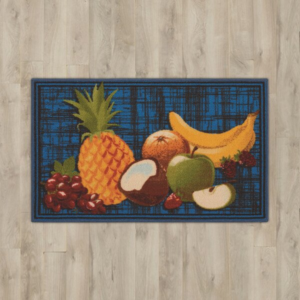 Amberwood Blue Fruits Area Rug by Charlton Home