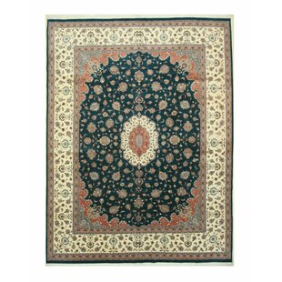 Where buy  One-of-a-Kind Andresen Pak-Persian Hand-Knotted 11'2 x 14'10 Wool Black/Beige Area Rug By Isabelline