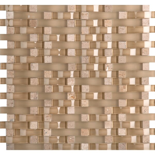 Lucente 12 x 13 Glass Stone Blend Wave Mosaic Tile in Regale by Emser Tile