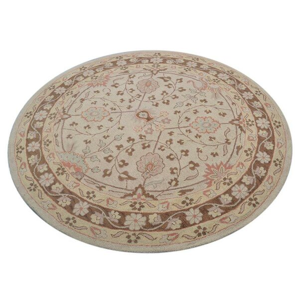 Auger Hand-Tufted Wool Beige/Ivory Area Rug by Bloomsbury Market