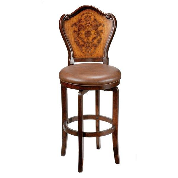 Lyon 30 Swivel Bar Stool with Cushion by Hillsdale Furniture