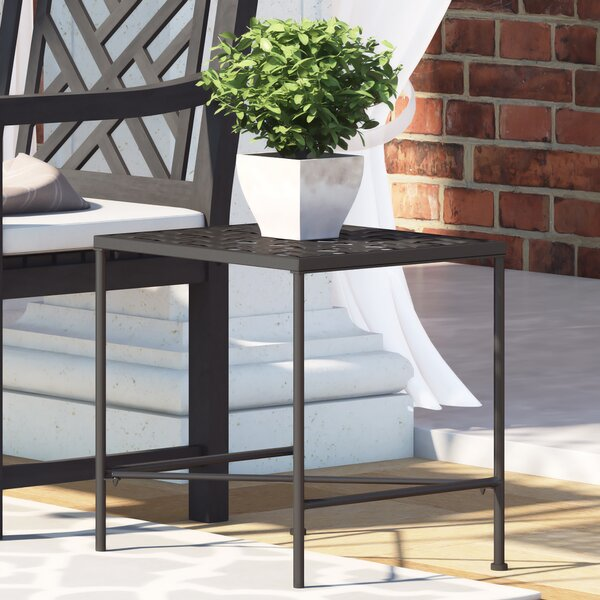 Hanselman Iron Side Table by Alcott Hill