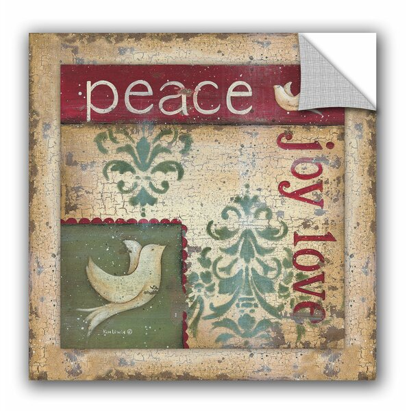 Kim Lewis Peace, Joy, Love Wall Mural by ArtWall