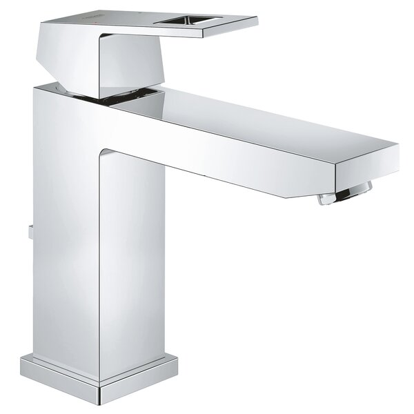 Eurocube Single Hole Bathroom Faucet with Drain Assembly