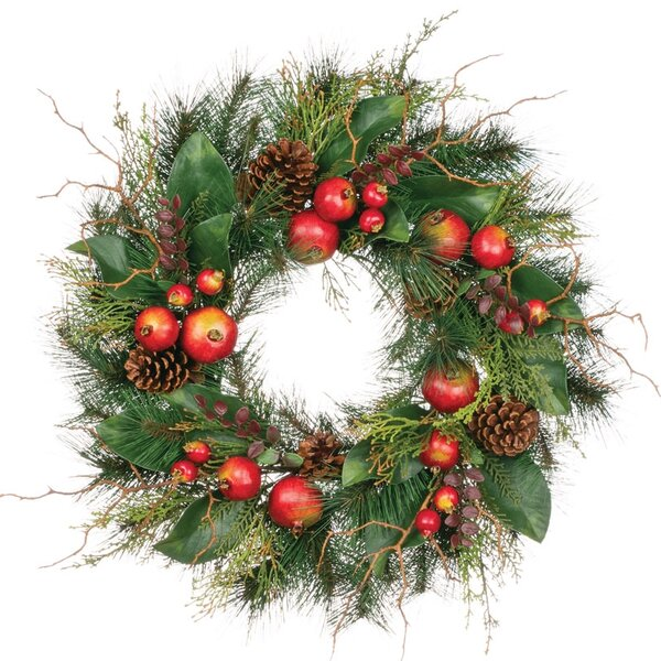 Pine Pomegranate Wreath by Clover Lane
