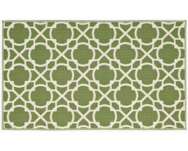 Fancy Free & Easy Perfect Fit Celery Area Rug by Waverly