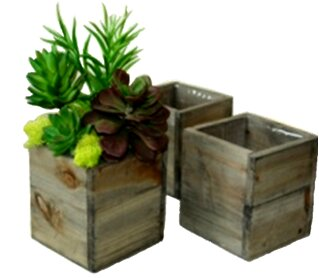 Creekside Square Wood Planter Box (Set of 3) by Gracie Oaks