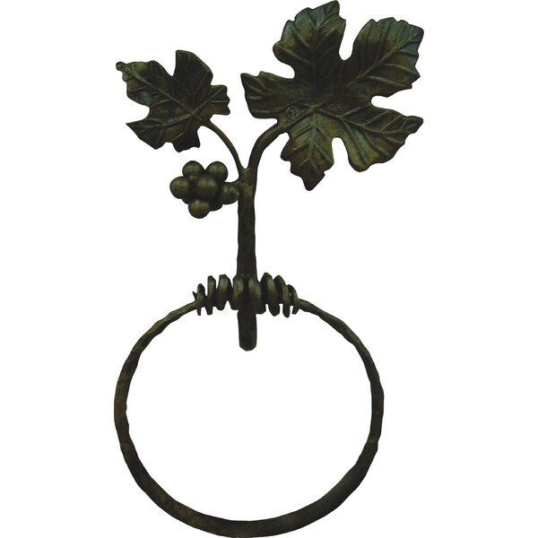 Vineyard Wall Mounted Towel Ring by Quiescence