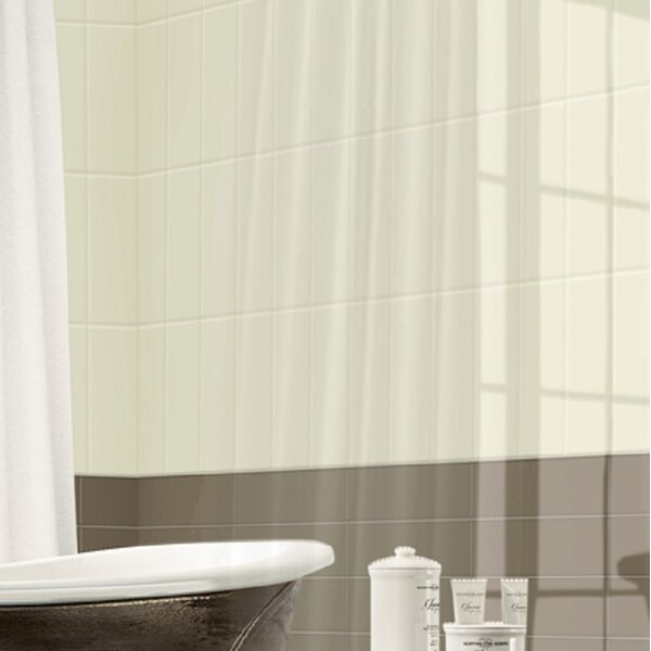 Urban Texture Wall Glaze 4 X 16 Ceramic Field Tile in Ivory White by Travis Tile Sales