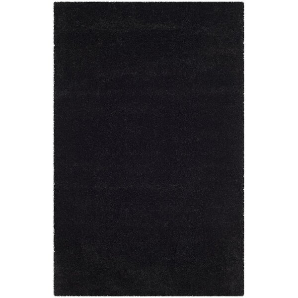 Raphael Black Area Rug by Charlton Home