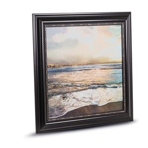 'Beach Sunrise Sunset' Framed Painting Print on Canvas by Crystal Art Gallery