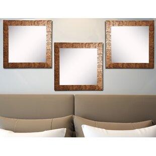 Best Reviews Willsey Bronze Wall Mirror (Set of 3) ByBloomsbury Market