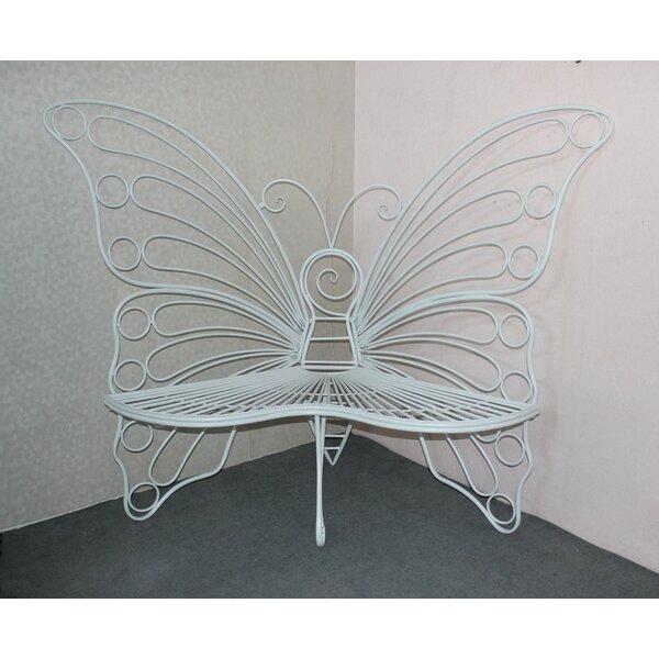 Balsam Butterfly Metal Garden Bench by Winston Porter