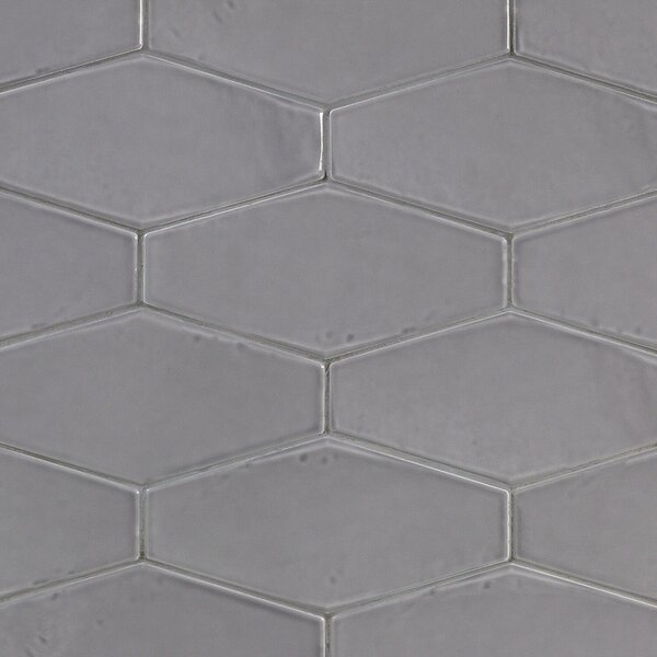 Birmingham 4 x 8 Ceramic Field Tile in Charcoal by Splashback Tile