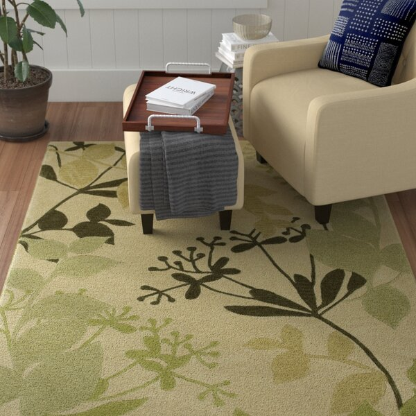 Bradshaw Ivory Rainforest Area Rug by Winston Porter