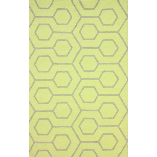 Air Libre Hand-Hooked Lime Light Indoor/Outdoor Area Rug by nuLOOM