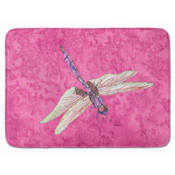 Dragonfly Rectangle Microfiber Non-Slip Bath Rug