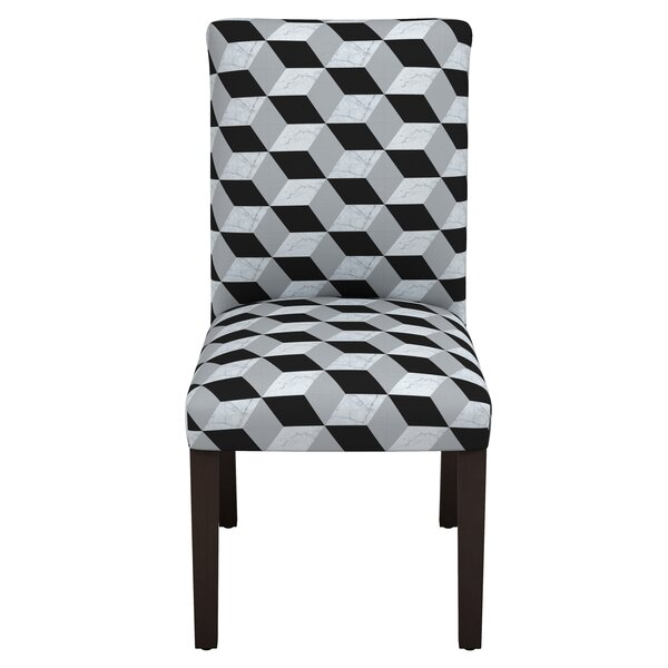Celeste Marble Cube Parsons Chair by Latitude Run
