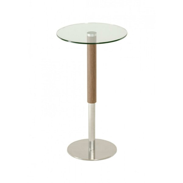 Christmas Wood and Stainless Steel Base Pub Table by Orren Ellis
