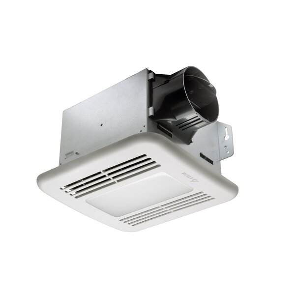 BreezGreenBuilder 80 CFM Energy Star Bathroom Fan with LED Light by Delta Breez