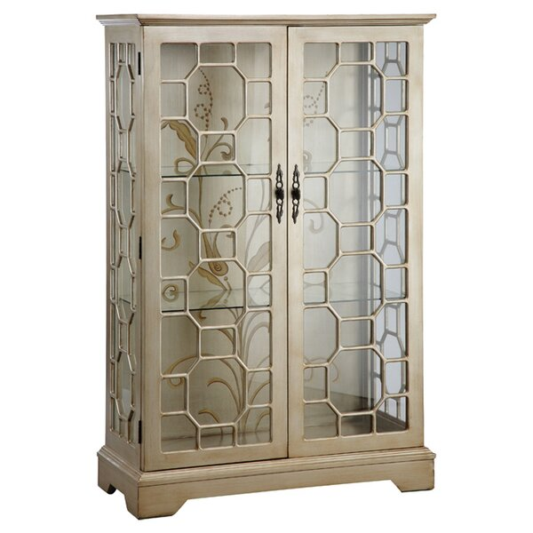 Luton Lighted Curio Cabinet by House of Hampton