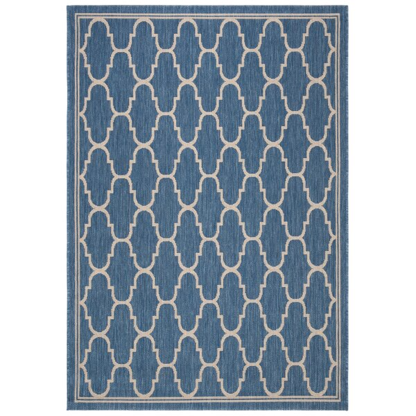 Rockbridge Blue/Beige Indoor/Outdoor Area Rug by Alcott Hill