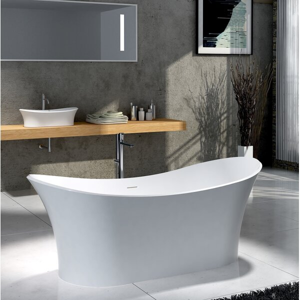 Ocean 69 x 30 Freestanding Soaking Bathtub by CastelloUSA
