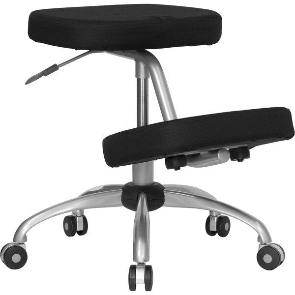 Woodrum Mobile Kneeling Chair with Dual Wheel