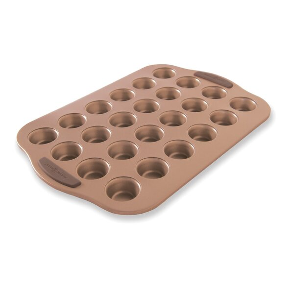 24 Cup Non-Stick Freshly Baked Mini Muffin Pan by Nordic Ware