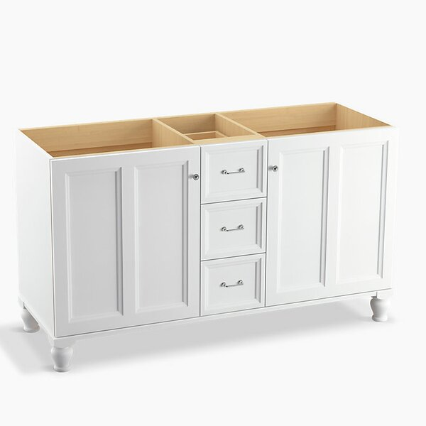 Damask™ 60 Vanity with Furniture Legs, 2 Doors and 3 Drawers, Split Top Drawer by Kohler