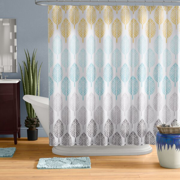 Utterback Printed Shower Curtain by Wrought Studio