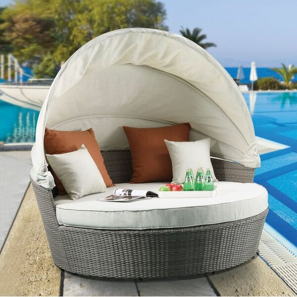 Platt Patio Daybed with Cushions by Gracie Oaks