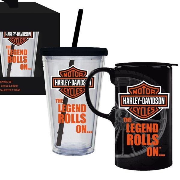 Harley-Davidson® 2 Piece Assorted Glassware Set by Evergreen Enterprises, Inc