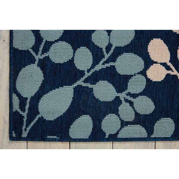 Brockenhurst Floral Navy Indoor / Outdoor Area Rug