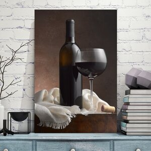 'Red Wine & Cork' by Barry Seidman Photographic Print on Wrapped Canvas by Jaxson Rea