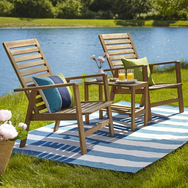 Lafountain 3 Piece Seating Group by Breakwater Bay