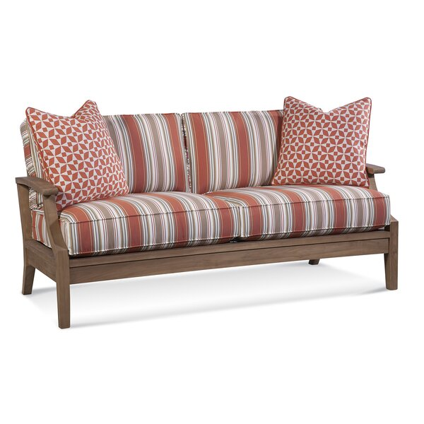 Messina Teak Patio Sofa with Cushions by Braxton Culler
