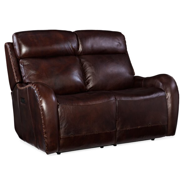 Chambers Leather Reclining Loveseat By Hooker Furniture