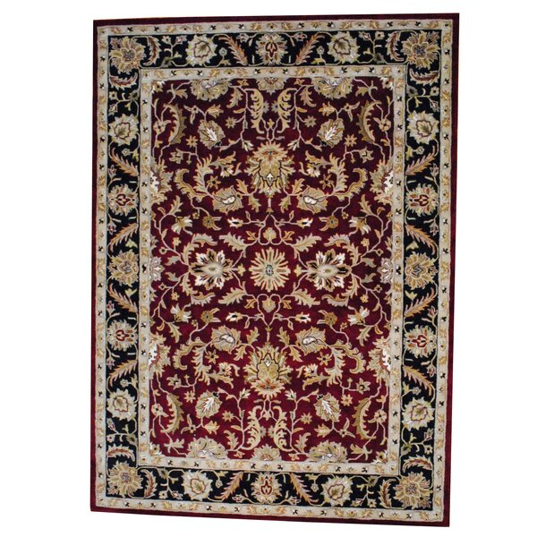 Hand Tufted Wool Red/Black Area Rug by Herat Oriental