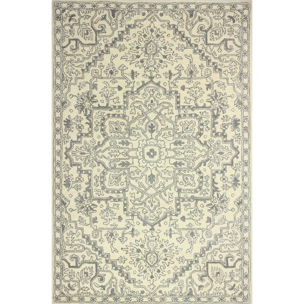 Goddard Hand-Tufted Ivory Area Rug by Bungalow Rose