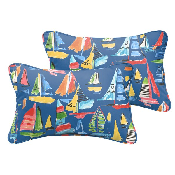 Alessa Indoor/Outdoor Lumbar Pillow (Set of 2) by Longshore Tides