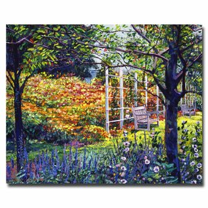 'Garden for Dreaming' by David Lloyd Glover Framed Painting Print on Wrapped Canvas by Trademark Fine Art